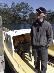 Armin bei einem Bootstrip