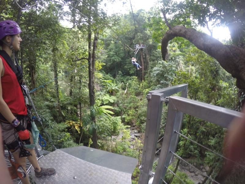 Zip Lining in Australiens Dschungel