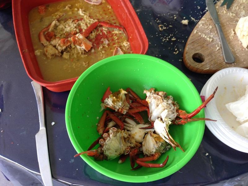 zubereitete krabben