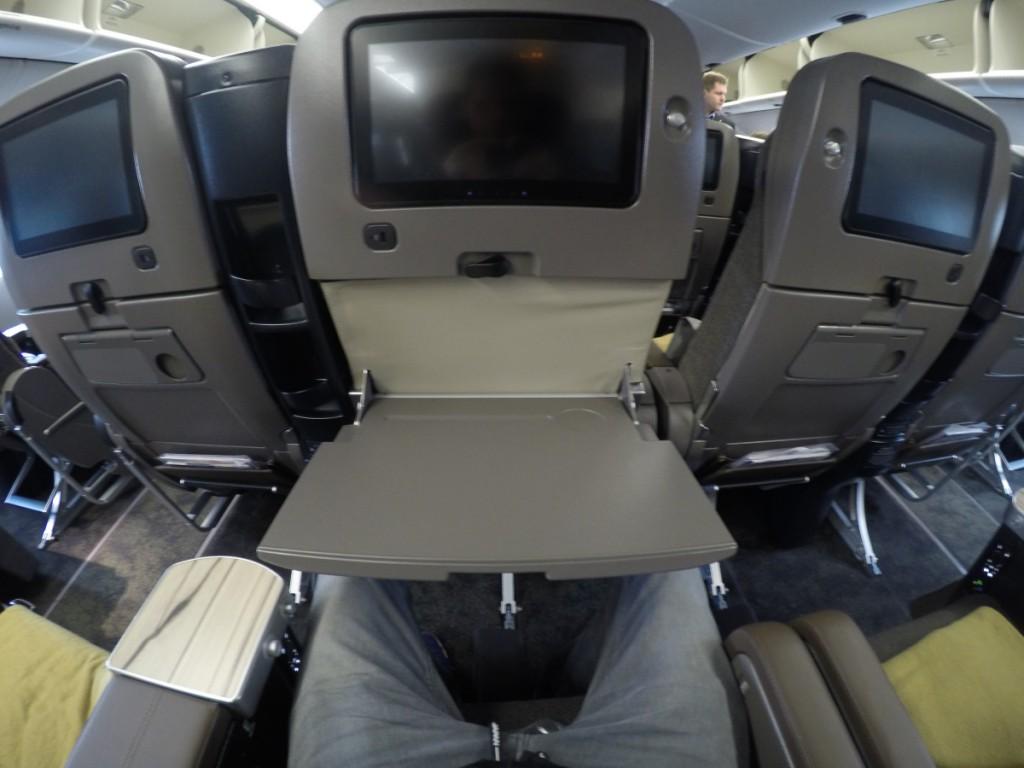 Tisch ausgeklappt, China Airlines