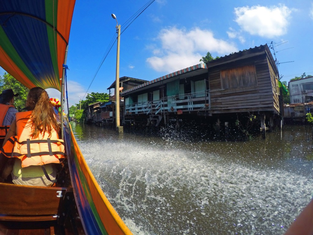 Bootsfahrt durch Bangkok