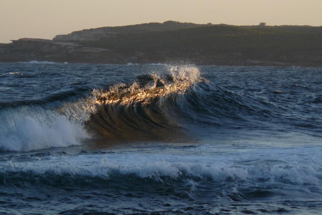 Welle perfekt zum Surfen