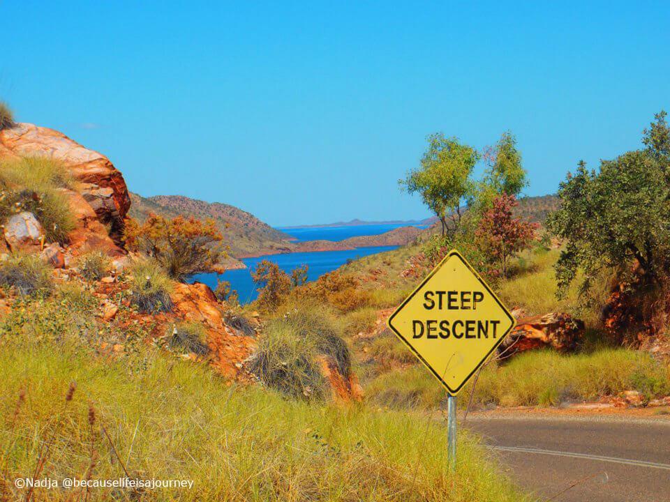 Step Decent Straßenschild