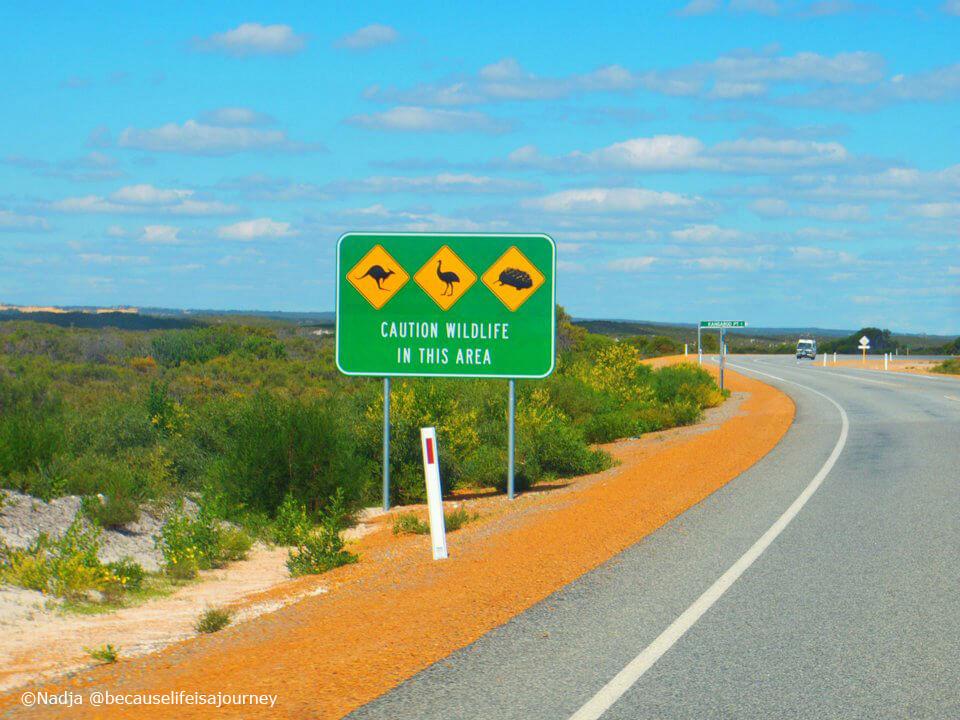 Straßenschild Australien