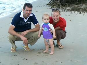 Wiebke mit Familie in Australien