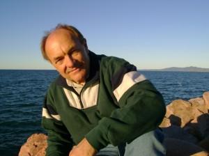 Karl-Heinz am Lake Morris, dem Trinkwasserspeicher von Cairns.