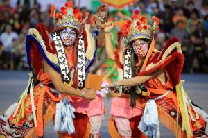 traditionelle Aufführung in Taipeh