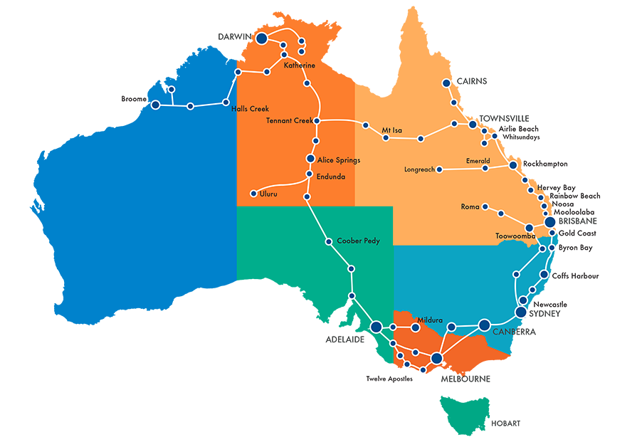 greyhound australia routen