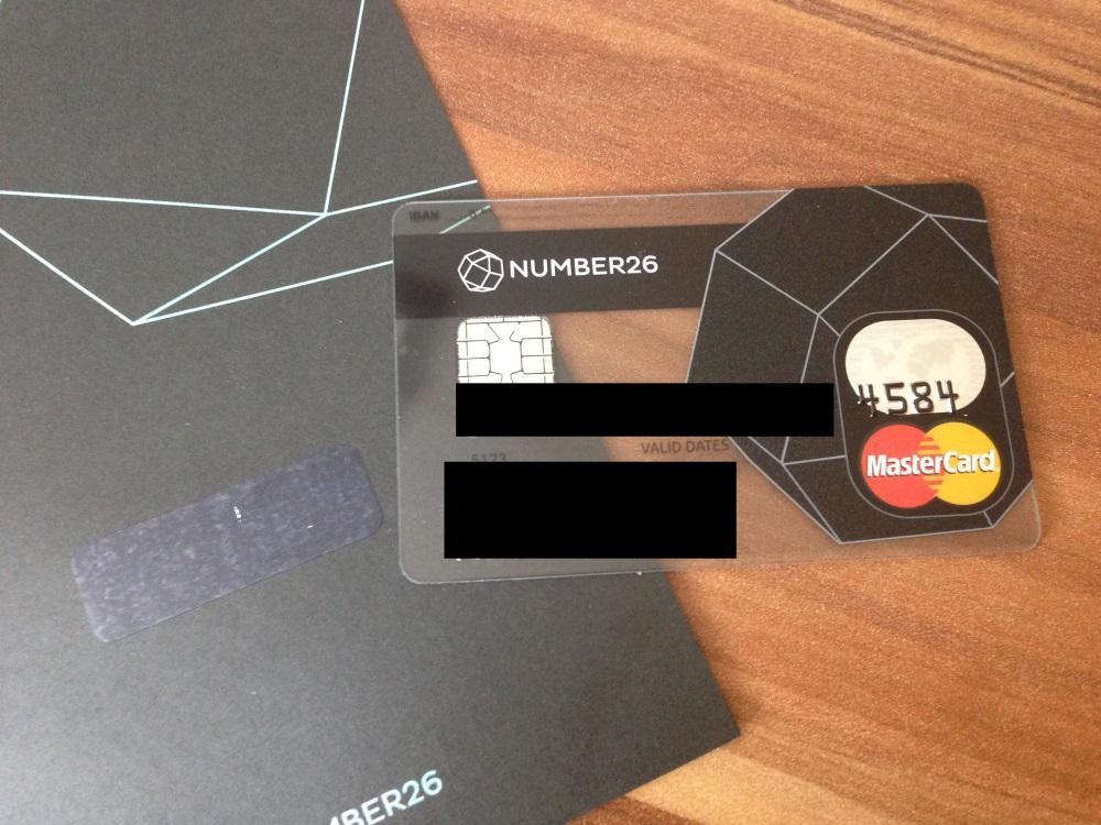 Number26 Bankkarte
