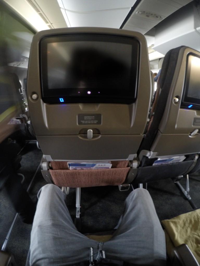 Entertainment System bei China Airlines Rücksitz