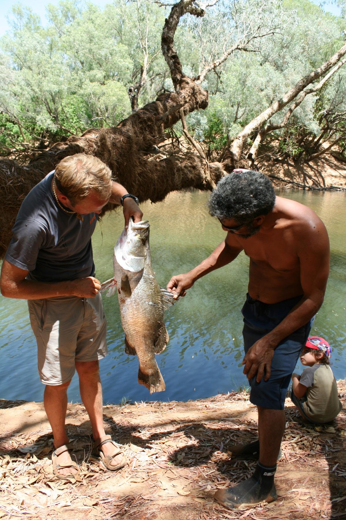 Fisch fangen, Aborigine