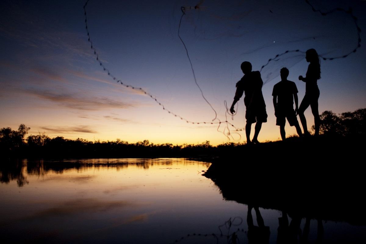 Nacht-Fischen in Australien