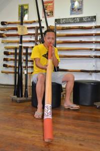 Didgeridoo-Lehrer Sanchi