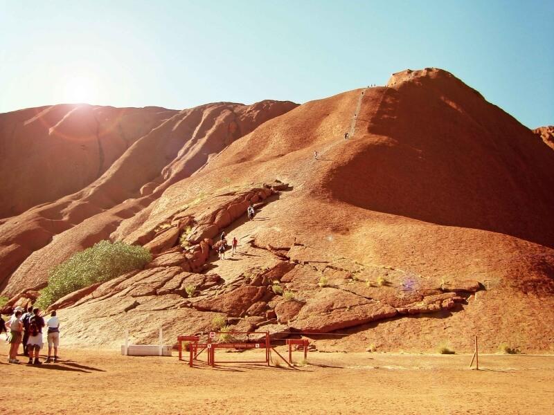Uluru-Bergsteiger