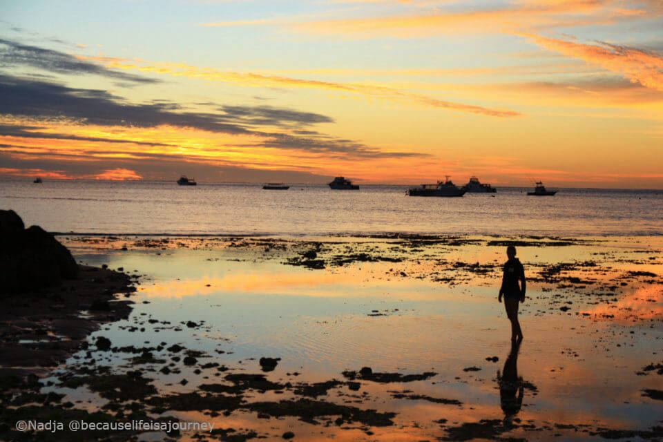Sonnenuntergang am Strand von Exmouth