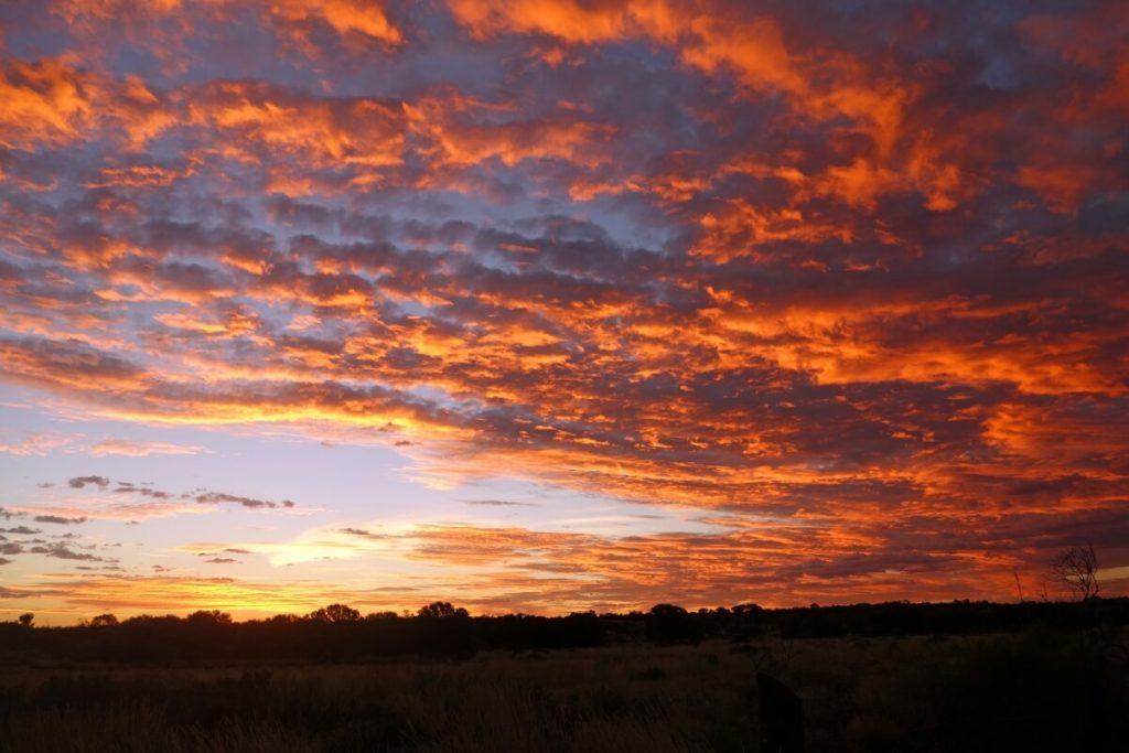 Abendhimmel im Outback