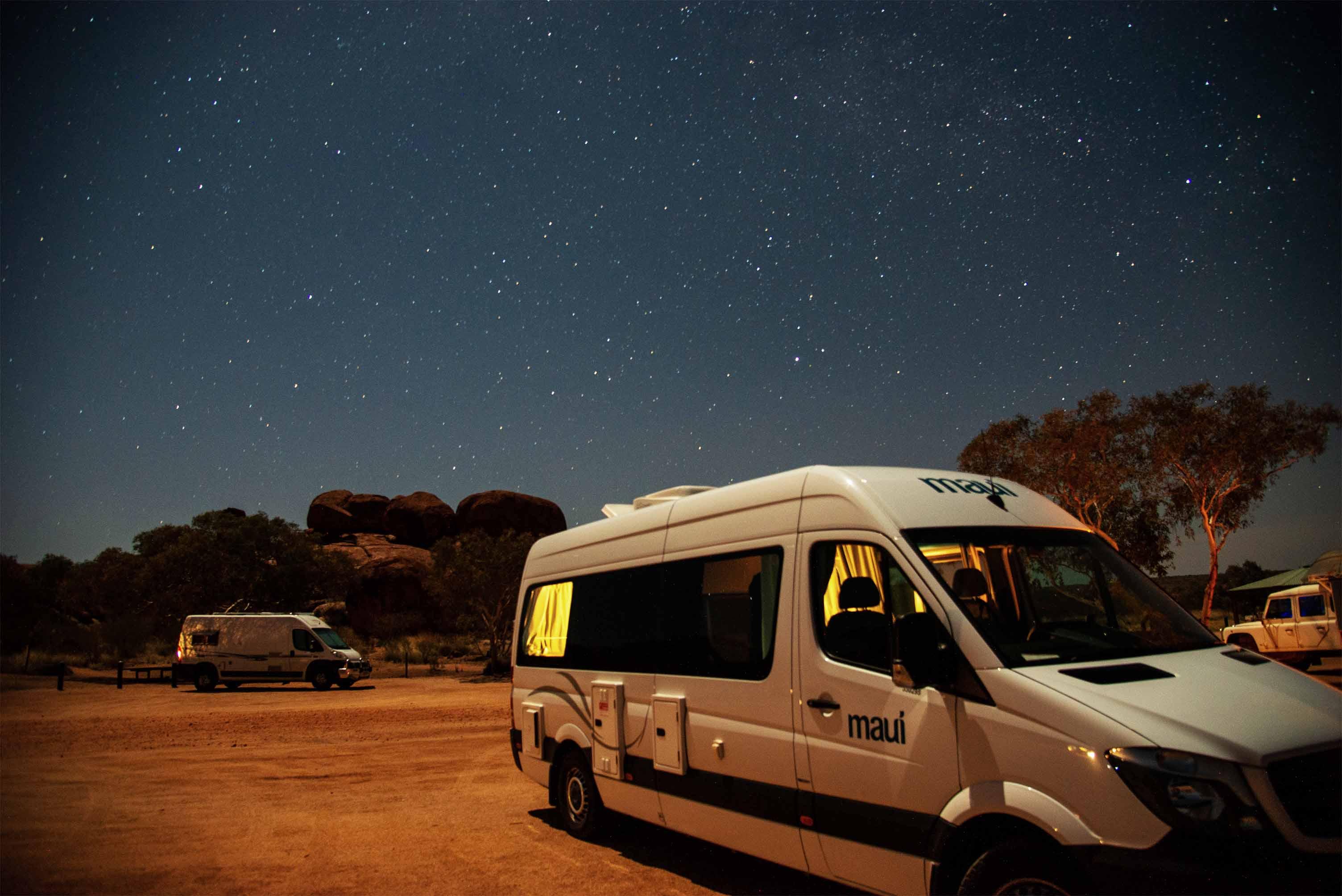 Camping unter Sternenhimmel
