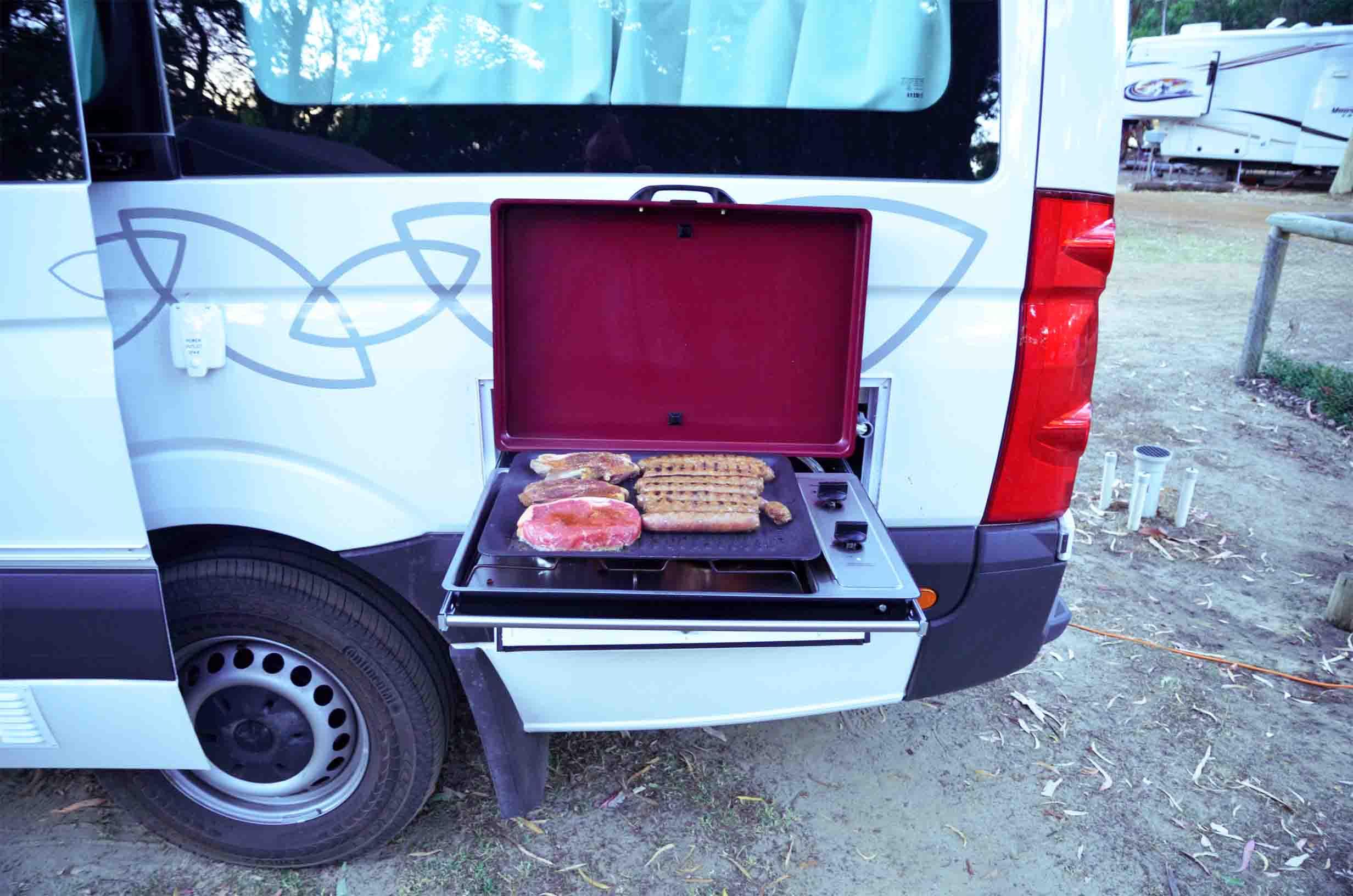 BBQ Grill am Wohnmobil