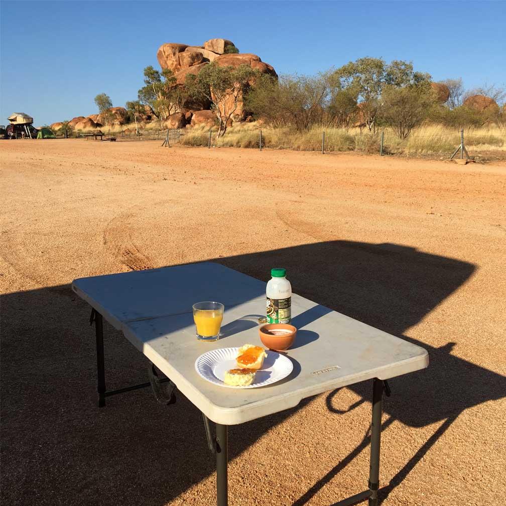 Campingplatz im Freien