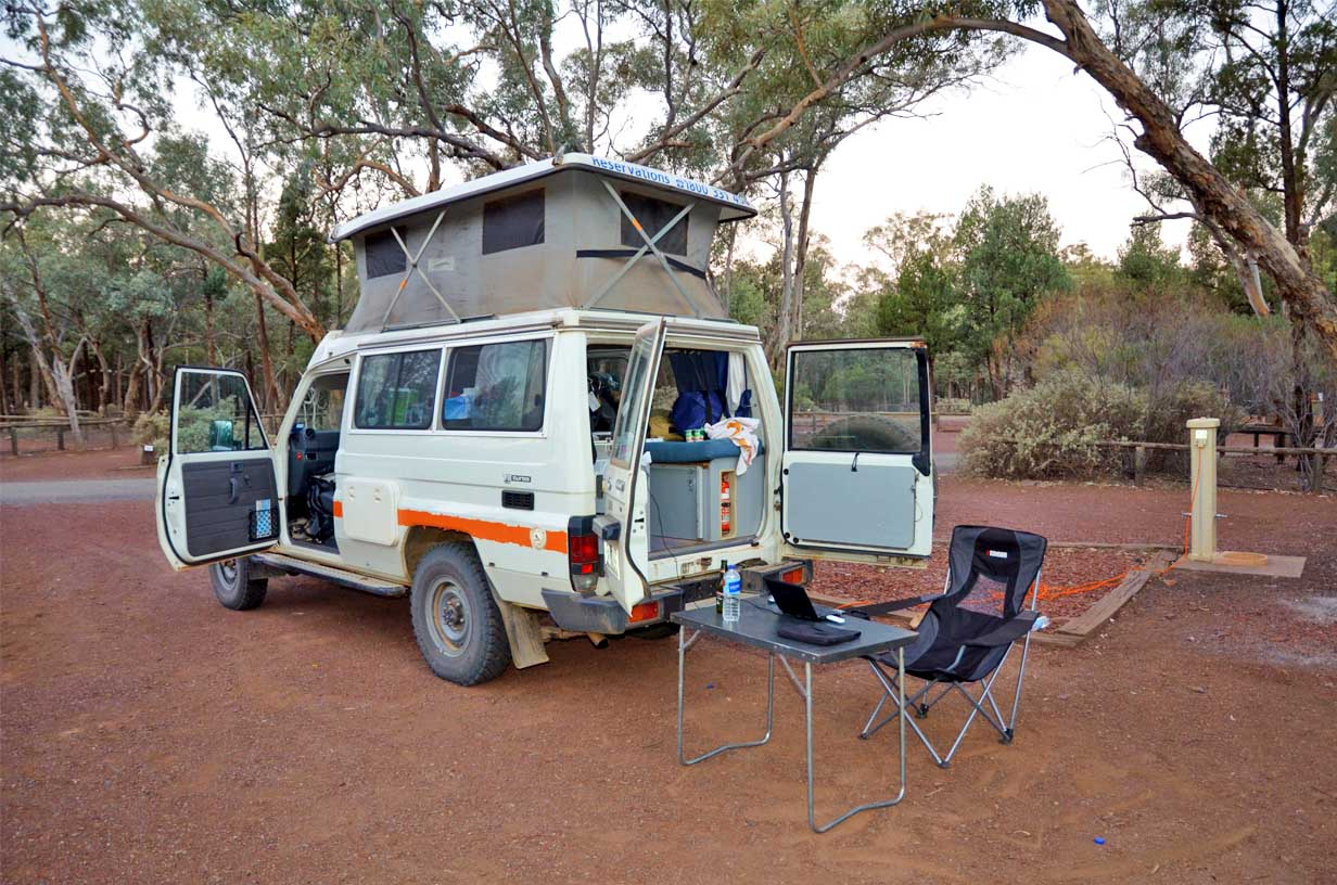 Outback Camping in Australien